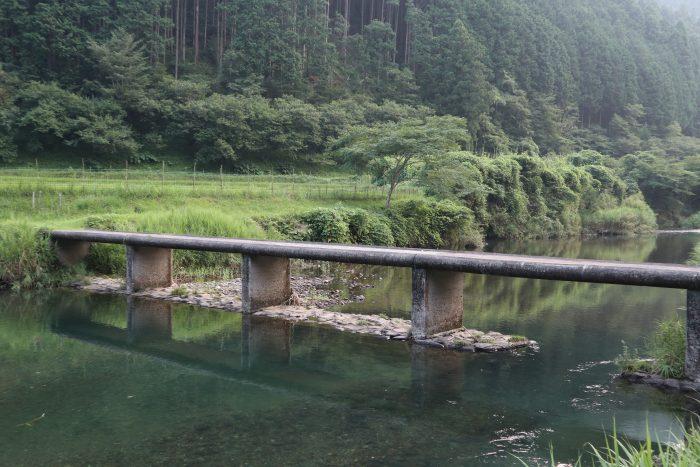高樋の沈下橋(四万十川本流にかかる第1番目の沈下橋)