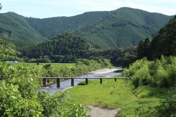 長野の沈下橋(四万十川本流にかかる第3番目)