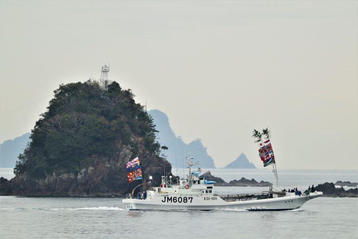 中土佐町 順洋丸 出港 大型カツオ一本釣り船